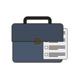 Koffer mit dokumentabhängiger Ikone lizenzfreie abbildung