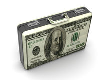 Koffer mit Dollar. Lizenzfreies Stockbild