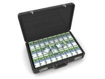 Koffer mit Euro Lizenzfreies Stockfoto