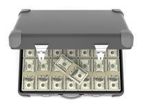 Koffer van bankbiljetten. Royalty-vrije Stock Afbeelding