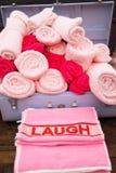 Koffer van handdoeken Royalty-vrije Stock Afbeeldingen
