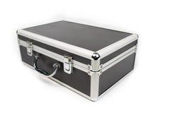 Koffer voor schoonheidsmiddelen op witte achtergrond worden geïsoleerd die Stock Afbeelding