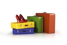 Koffers met Royalty-vrije Stock Foto's