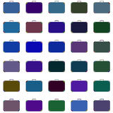 Koffers verschillende kleuren rooster Stock Afbeelding