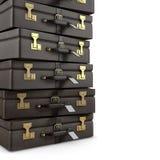 Koffersstapel Stock Afbeeldingen