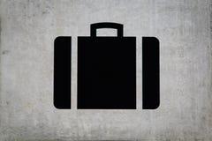 Kofferzeichen an der Gepäckausgabe Lizenzfreie Stockfotos