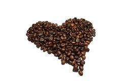Koffie achtergrondkoffiebonen Stock Foto