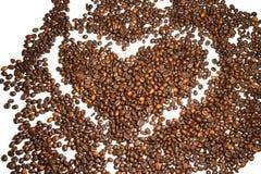Koffie achtergrondkoffiebonen Stock Afbeelding