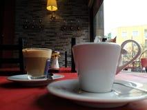 Koffie alleen of latte? Royalty-vrije Stock Afbeelding