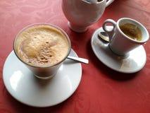 Koffie alleen of latte? Royalty-vrije Stock Foto's