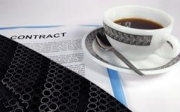 Koffie als gelukwensen Stock Foto's