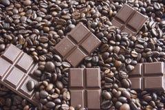Koffie & Chocolade Stock Afbeeldingen