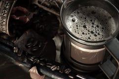 Koffie & de Bonen van de Koffie Stock Afbeelding