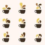 Koffie Art Logo Stock Fotografie