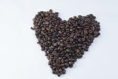 Koffie Bean Heart Royalty-vrije Stock Foto's