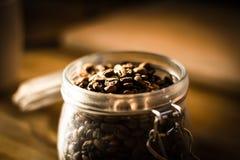 Koffie Bean Jar Royalty-vrije Stock Foto's