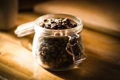 Koffie Bean Jar Royalty-vrije Stock Afbeeldingen