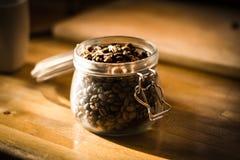 Koffie Bean Jar Royalty-vrije Stock Foto