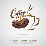 Koffie Bean Vector Template Stock Foto