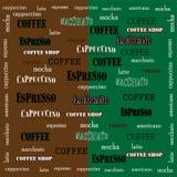 Koffie behang-02 stock illustratie