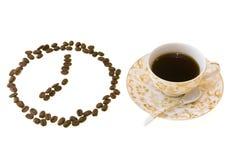 Koffie bij 8p.m. Royalty-vrije Stock Foto's