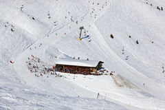 Koffie bij bergen - skitoevlucht Slechte Gastein Royalty-vrije Stock Afbeelding