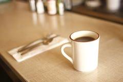 Koffie bij diner Royalty-vrije Stock Afbeelding