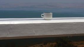 Koffie bij het balkon Royalty-vrije Stock Foto