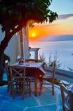 Koffie bij zonsondergang Stock Afbeeldingen