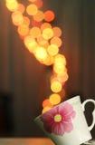 Koffie bokeh Stock Foto's