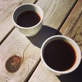 Koffie buiten Stock Foto