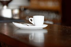 Koffie. Cappuccino. Kop van Cappuccino Royalty-vrije Stock Afbeelding