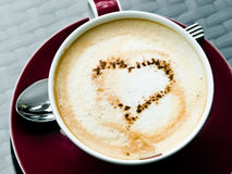 Koffie - cappuccino's Stock Foto's