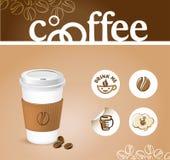Koffie creatieve achtergrond Royalty-vrije Stock Afbeelding