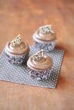 Koffie Cupcakes Stock Afbeelding