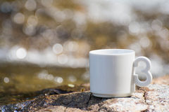 Koffie, de natuurlijke waterval in Thailand Royalty-vrije Stock Foto's