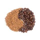 Koffie in de vorm van teken Royalty-vrije Stock Afbeelding