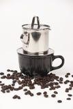 Koffie die in Vietnamese stijl druipt Royalty-vrije Stock Fotografie