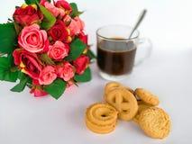 Koffie - drank, zwarte koffie, koffie, koffiekop, koffiewinkel Stock Foto