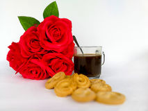 Koffie - drank, zwarte koffie, koffie, koffiekop, koffiewinkel Royalty-vrije Stock Afbeelding