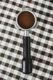 Koffie in een houder Royalty-vrije Stock Afbeelding