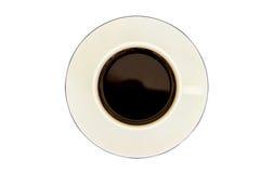Koffie in een kop in isolate op wit Royalty-vrije Stock Afbeelding