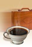 Koffie en aktentas Royalty-vrije Stock Afbeelding