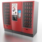 Koffie en automaat Stock Foto