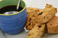 Koffie en beschuiten Royalty-vrije Stock Foto's