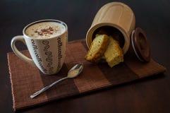 Koffie en beschuiten Stock Foto's