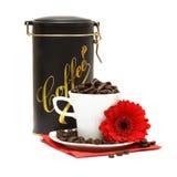 Koffie en bloem Royalty-vrije Stock Foto