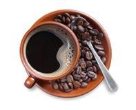 Koffie en bonen royalty-vrije stock foto