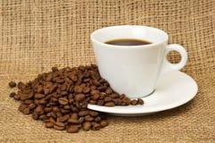 Koffie en bonen Stock Foto's