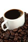 Koffie en boon Stock Afbeelding
